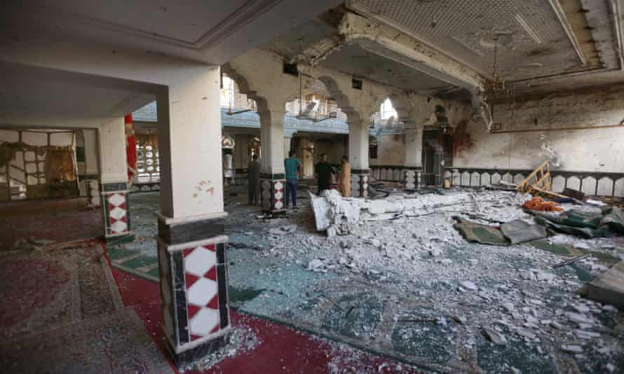 Damage at the mosque in Herat.