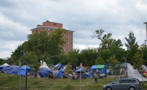 The encampment in Minneapolis.