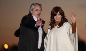Cristina Fernandez de Kirchner with presidential candidate Alberto Fernandez.