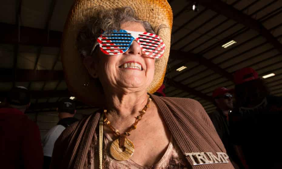 A Trump supporter at a rally in Montana. What's the source of Trump's appeal?