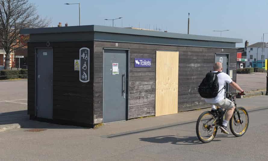 Public toilets, closed during the Covid-19 pandemic, in Southend-on-Sea, Essex.