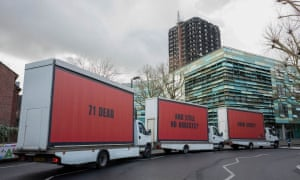 Justice for Grenfell billboards