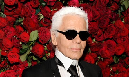 Karl Lagerfeld in 2011. He evolved into a commentary on the fashion business: personally stylised into his own logo (glasses, gloves and the defensive composure for the camera).
