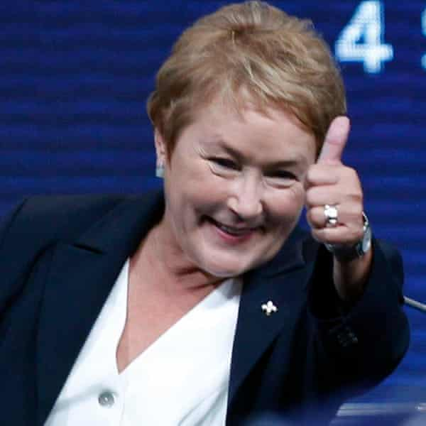 Pauline Marois, who championed Quebec's popular parental leave policy.