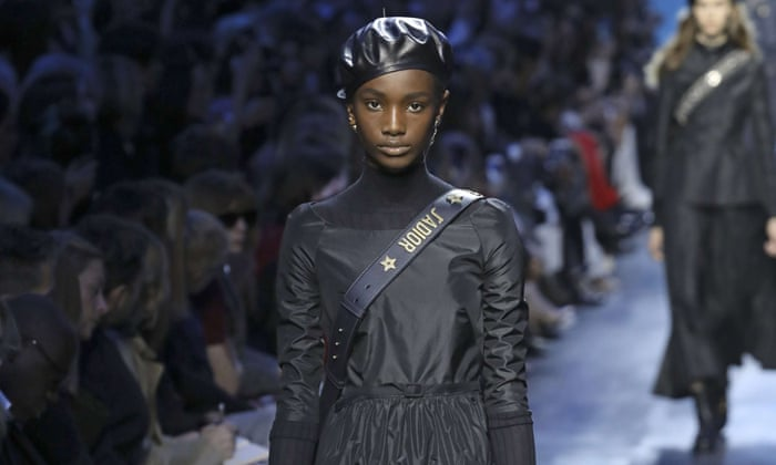 Berets on the Dior catwalk.