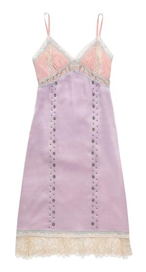 Prairie rivets slip dress, £750, by Coach.