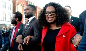 Oprah and David Oyelowo in Selma.