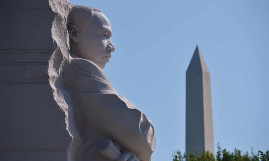 The Stone of Hope statue at the Martin Luther King Jr Memorial in Washington, DC.