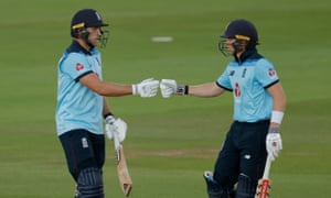 David Willey (left) scored 46 from 47 balls after taking two Ireland wickets as his partnership with Sam Billings, who made 46 from 61, saw England home.