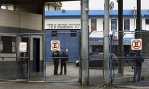 The entrance of the Provisional Detention Centre Pinheiros in Sao Paulo, Brazil where Diego Dzodan spent one night in custody.