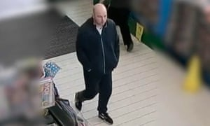 CCTV footage of Joseph McCann at a Morrisons in Greater Manchester where he abducted a 71-year-old woman.