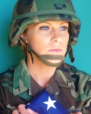 Liz Luras in uniform.