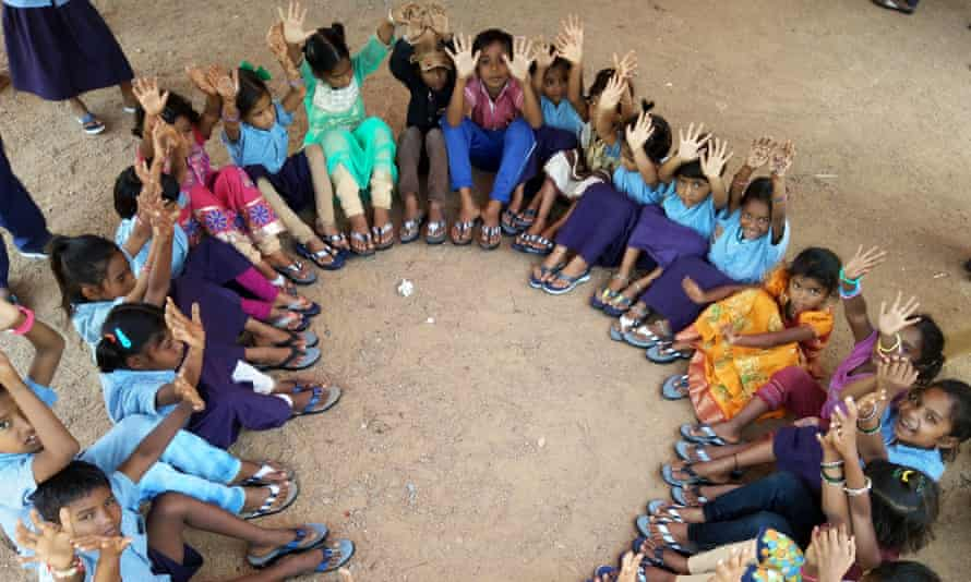 Children wearing flip-flops
