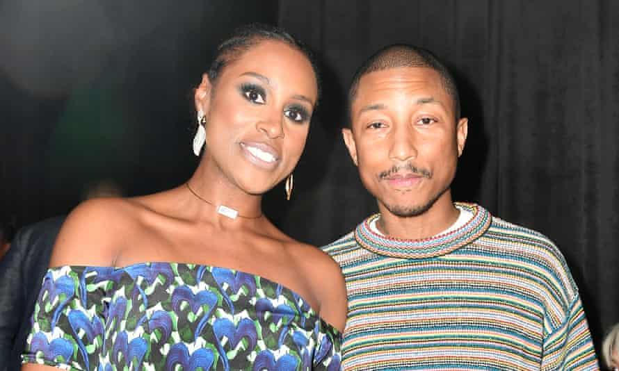 Issa Rae and Pharrell Williams