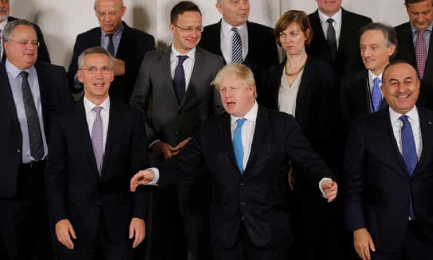 Boris Johnson at a Nato meeting on Thursday.