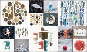 Spoons, combs, toys, plastic. Lisa Woollett's beach collections