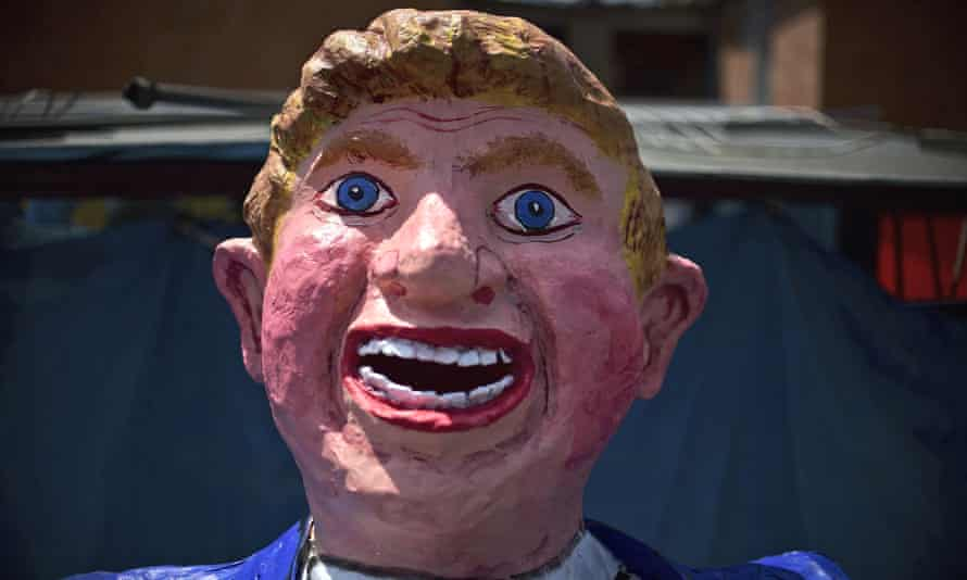 donald trump mexico effigy