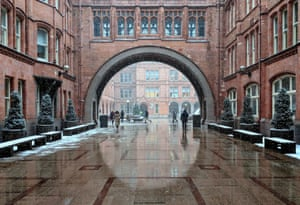 Holborn Bars, London. The Beast from the East whipping through these beautiful red-brick buildings on Chancery Lane