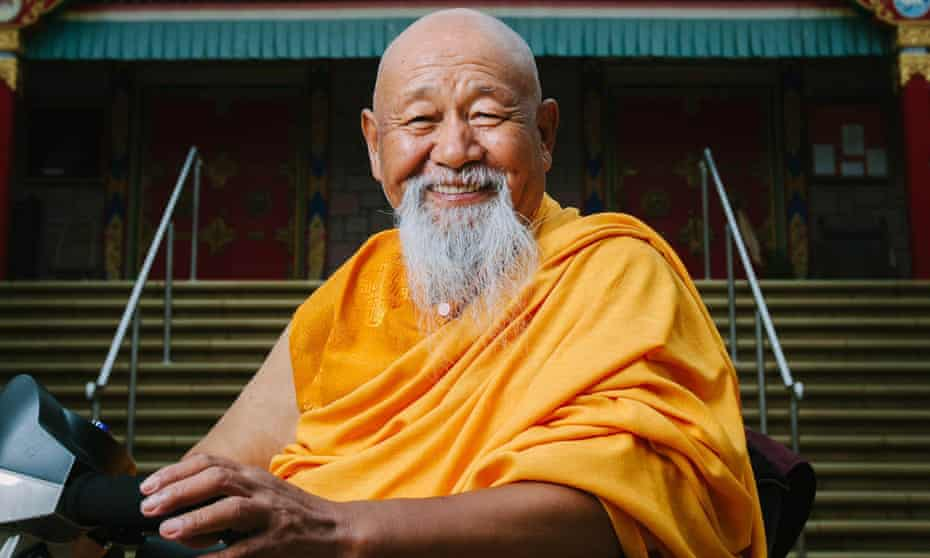 Abbot Lama Yeshe Losal Rinpoche at the monastery near Lockerbie in Scotland.