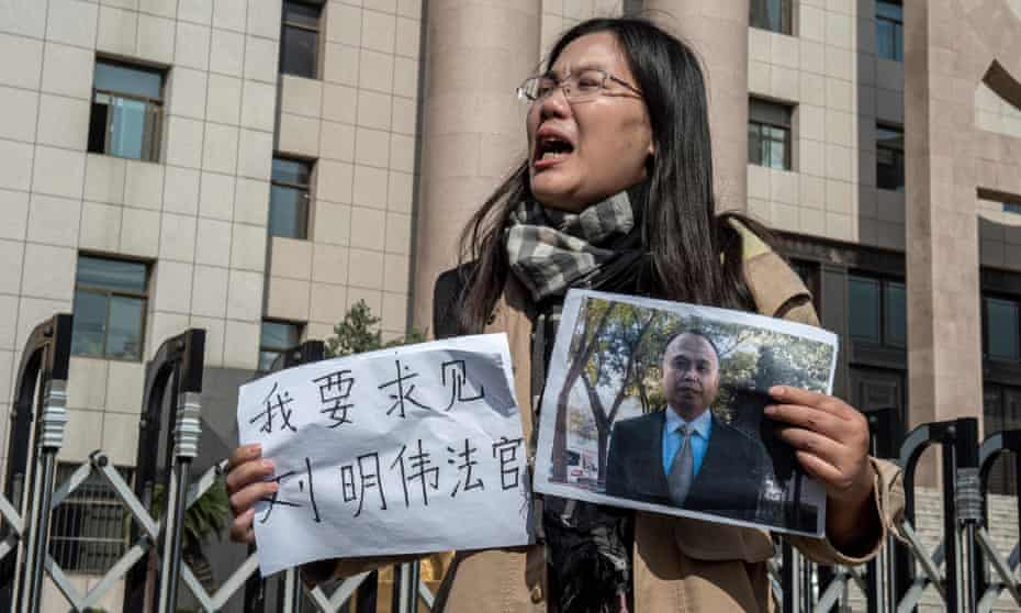 Xu Yan, the wife of human rights lawyer Yu Wensheng