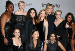Stars and activists at the 2018 Golden Globes.