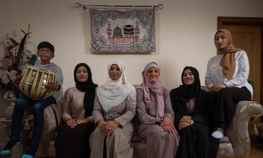 Katie Freeman, third from right, in My Week as a Muslim