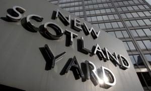 New Scotland Yard, the Met's HQ.