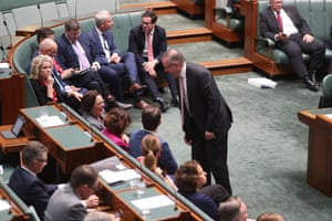 The opposition leader, Anthony Albanese, during question time