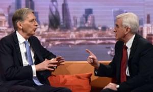 Philip Hammond with John McDonnell