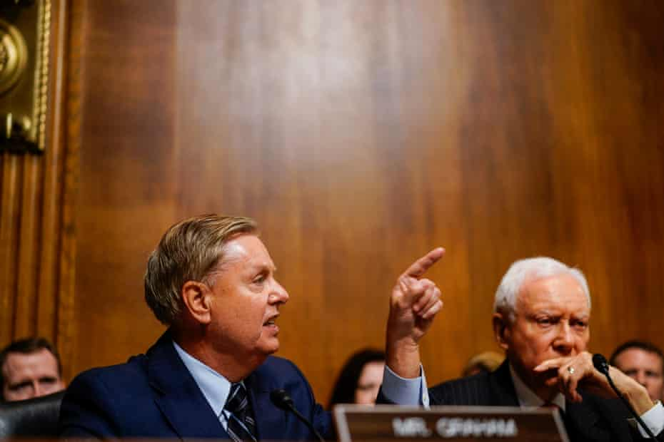 Senator Lindsey Graham during the hearing.