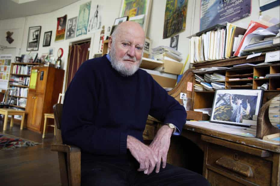 Lawrence Ferlinghetti at his City Lights book shop in San Francisco.