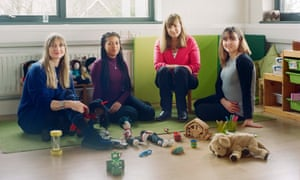 Ruth Marchant, second right, with some of her colleagues in a playroom at Triangle.