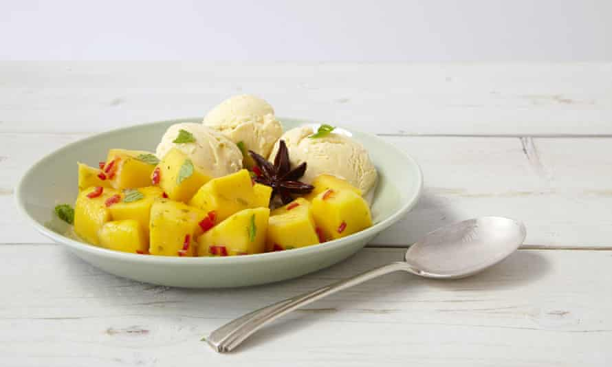 Chilled mango salad in anise-lime syrup by Thomasina Miers
