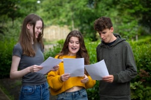 (From left) Esme Smith, Isabella Simpson and Nathan Rischer from King David high school in Liverpool