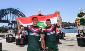 Lebanon players Michael Lichaa and Robbie Farah