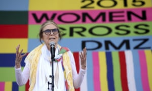 """The activist and feminist Gloria Steinem is a longtime critic of Playboy. """"The magazine would have to change its title, heart and brain cells in order to express the full humanity of men or women,"""" she told the Guardian"""