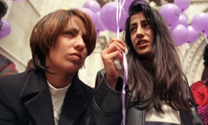 Naz Shah, left, and her sister Fozia after their mother's appeal was rejected.
