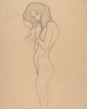 Standing Female Nude (Gustav Klimt, 1901).