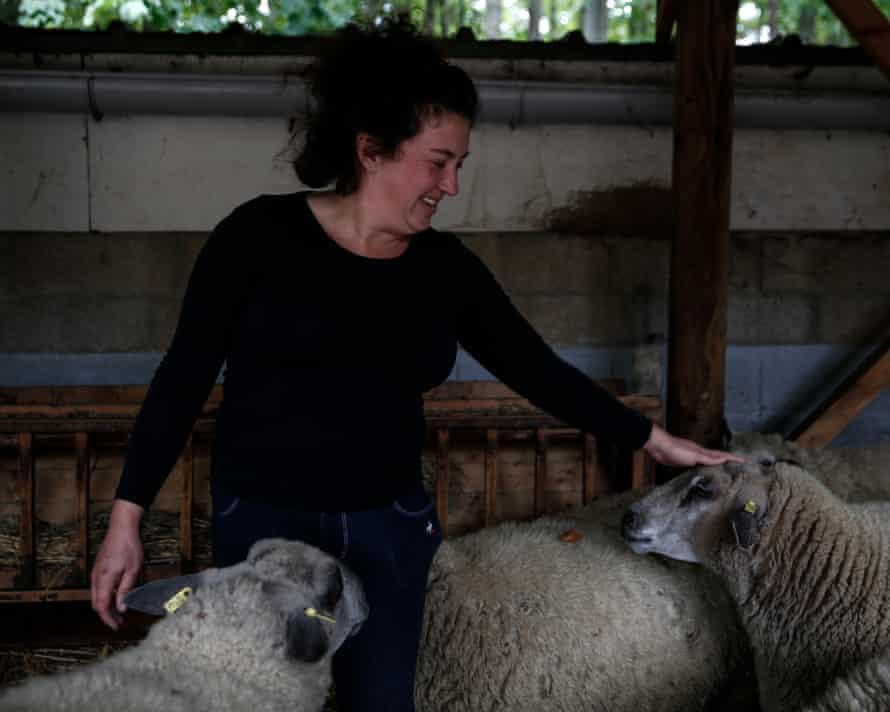 Julie-Lou in her farm