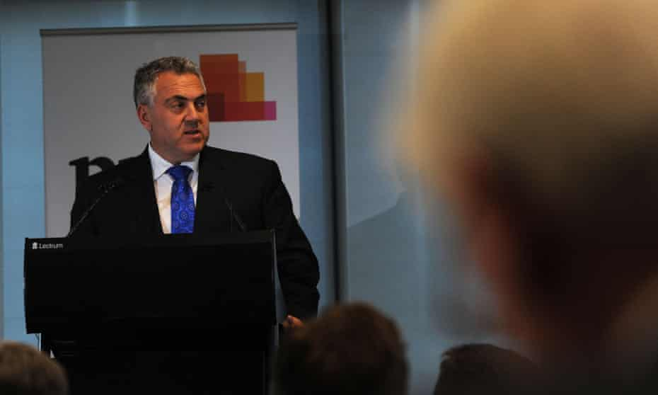 """Australian Federal Treasurer Joe Hockey speaks during a tax forum at a Price Waterhouse Coopers (PwC) luncheon in Melbourne, Wednesday, July 15, 2015. Mr Hockey has promised that his review of the tax system will not result in just more """"band-aid solutions"""". (AAP Image/Mal Fairclough) NO ARCHIVING"""