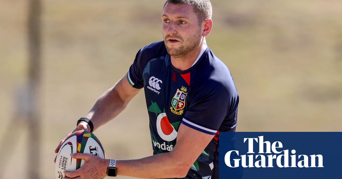 Artist Finn Russell can add a splash of abstract magic to Lions' blank canvas