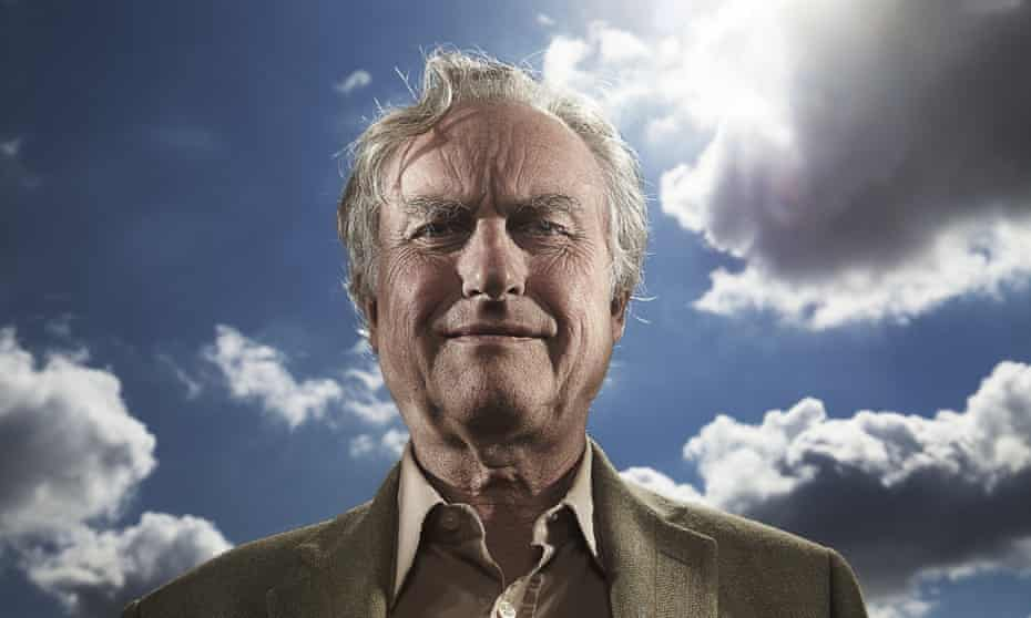 Flying high … Richard Dawkins.