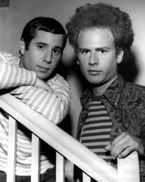 Simon & Garfunkel backstage at Top of the Pops in the mid-1960s.