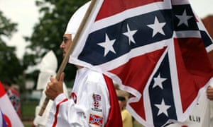 KKK members on a march in 2009.