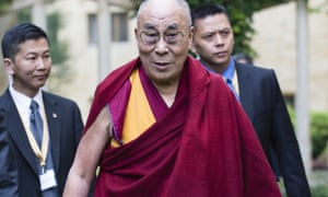 The Dalai Lama at Magdalen College, Oxford, where he spoke of the need ...