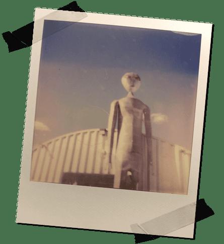 The alien statue outside the Alien Research Center, Hiko, NV.