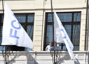 FCA flags are flown at half-mast at the company's headquarters in Turin.