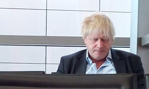Boris Johnson at San Francesco d'Asssisi airport