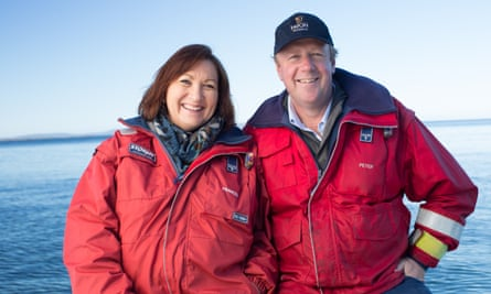 Peter and Frances Bender of Huon Salmon in Tasmania
