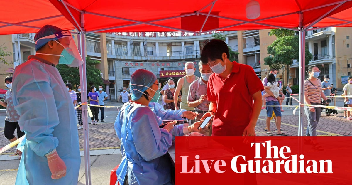 Coronavirus live news: new China outbreak grows; UK health secretary to set out booster plans